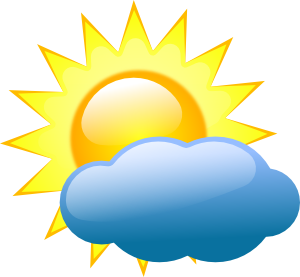 300x277 Weather Symbols Clip Art