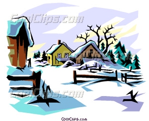 300x243 Winter Scene Vector Clip Art