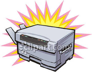 300x234 Copy Machine Royalty Free Clipart Picture