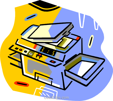 480x430 Photo Copy Machine Royalty Free Vector Clip Art Illustration