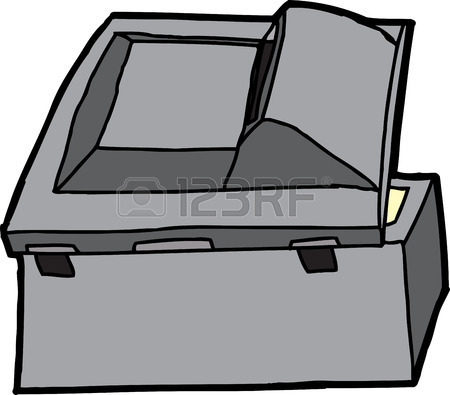 450x395 Back End Of Isolated Multifunction Copy Machine Royalty Free