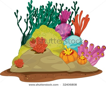 450x370 Clip Art Drawing Of A Coral Reef