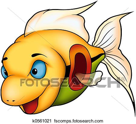 450x409 Clipart Of Beautiful Coral Fish K0561021