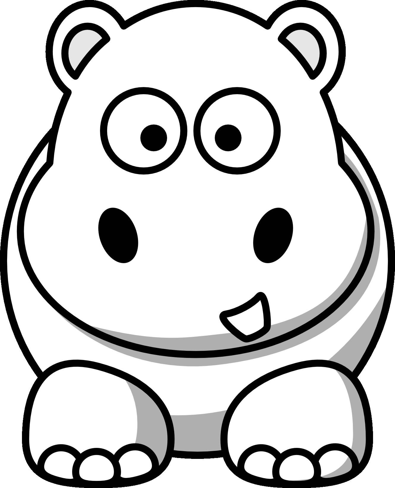 1331x1643 Top 91 Hippopotamus Clipart