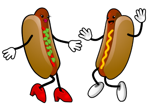 500x358 Hot Dog Clipart Two