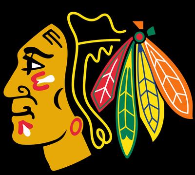 400x359 Chicago Blackhawks Cornhole Decal
