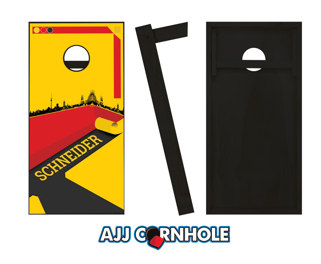 1217x1000 German Surname Cornhole Set