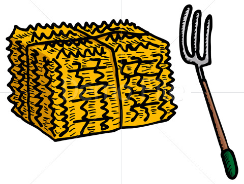 480x363 Hay Bale Clipart