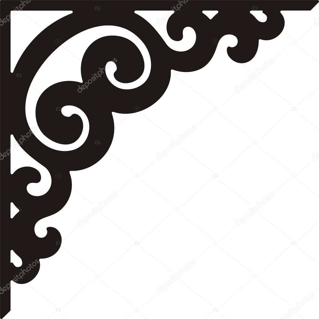 Corner Scroll Designs: Free Download Best Corner Border On