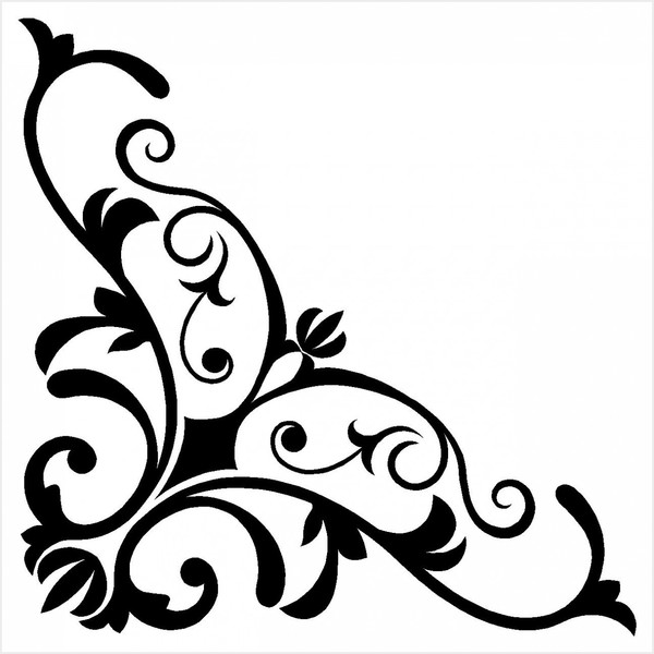 600x600 10 Best Images Of Damask Corner Clip Art