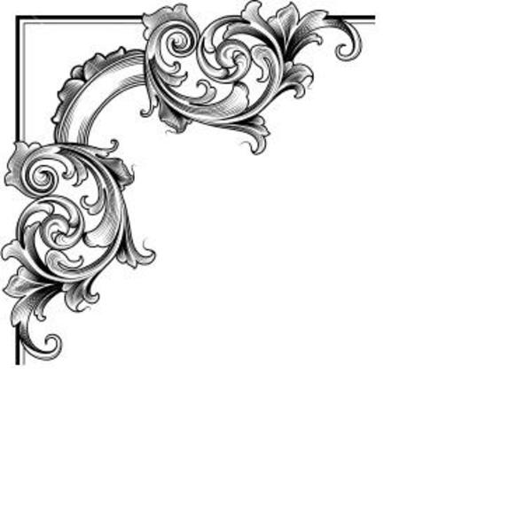 600x598 Decorative Corner Free Images At Clker Com Vector Clip Art Online
