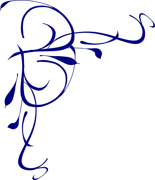 516x599 Left Floral Swirl Clip Art