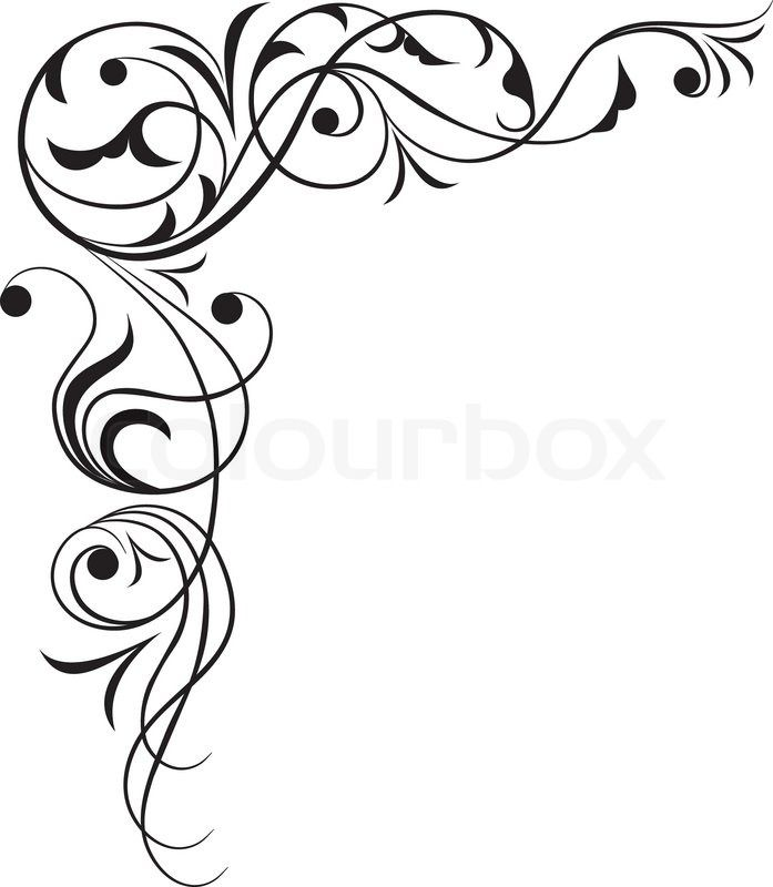 697x800 330 Best Paper Corner Images Filigree, Abstract