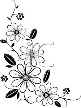262x350 Daisy Border Clipart
