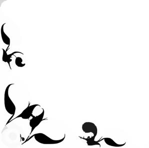 298x297 Floral Design Corner E Clip Art