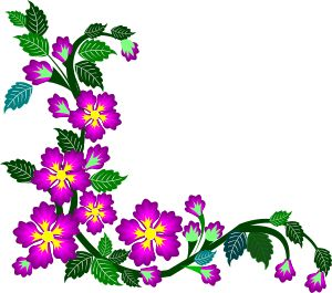 300x265 Floral Clipart Simple Flower Border