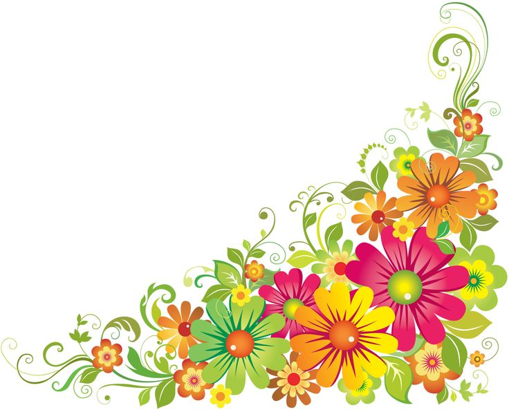 736x593 Horizontal Flower Border Clipart Dibujos Flores