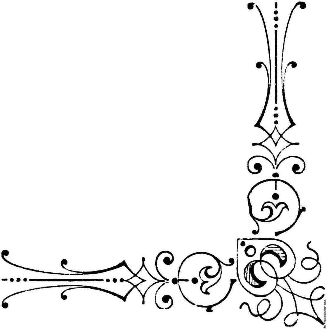 1108x1115 Scrolls Clip Art Dreamy Wedding Corner Border Clipart Romantic