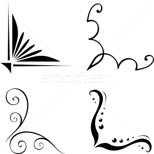 598x600 Set Of Vector Corners Vector Illustration Mr Vector ( 533690