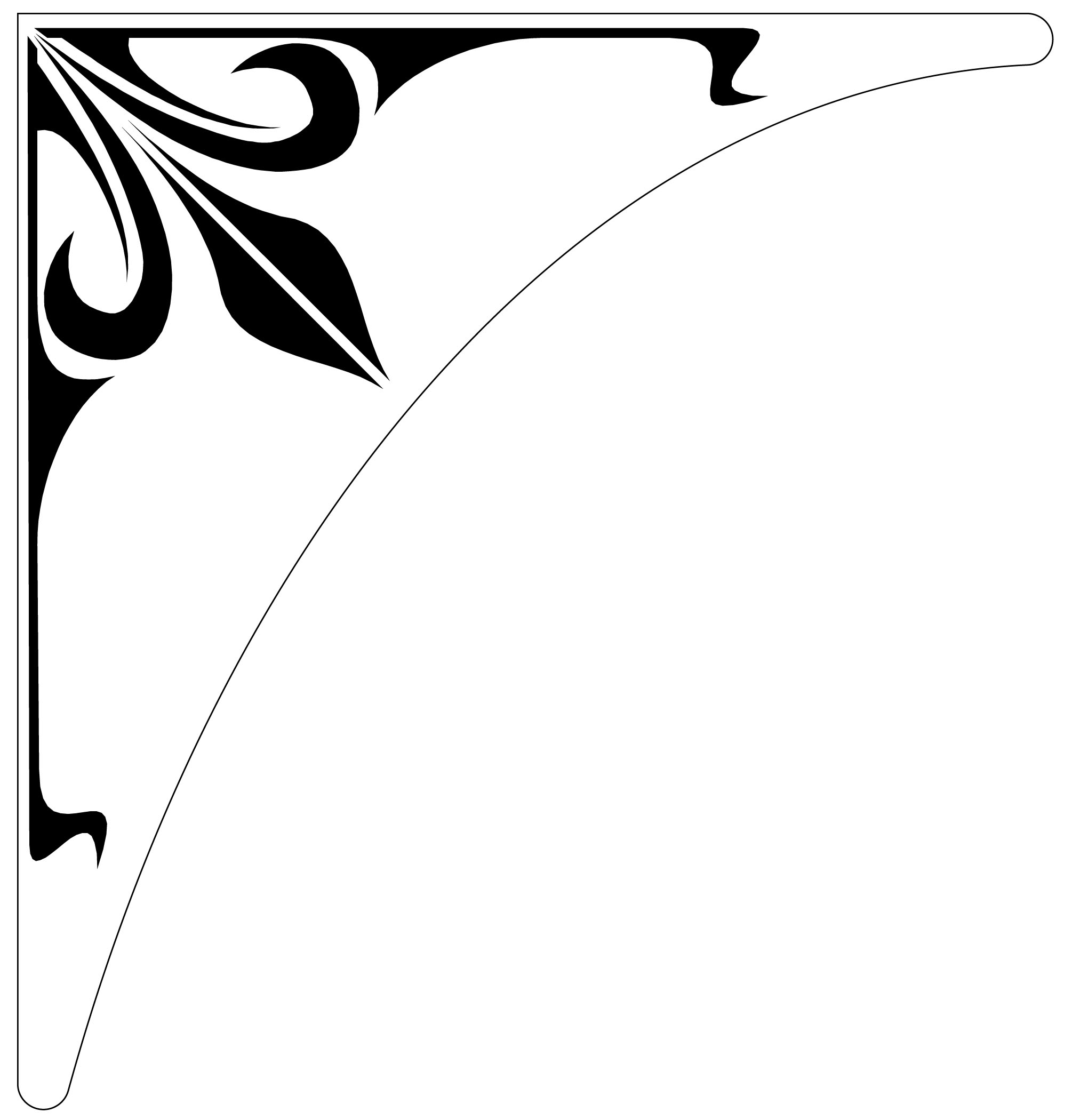 Corner Border Designs For Projects Clipart