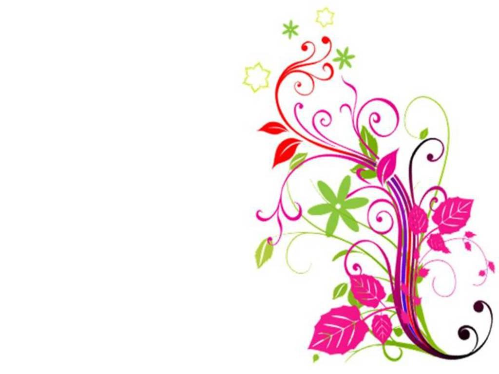 1024x768 Free Corner Flower Clipart
