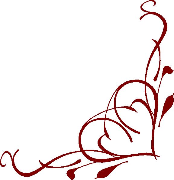 576x595 Heart Corner Clip Art