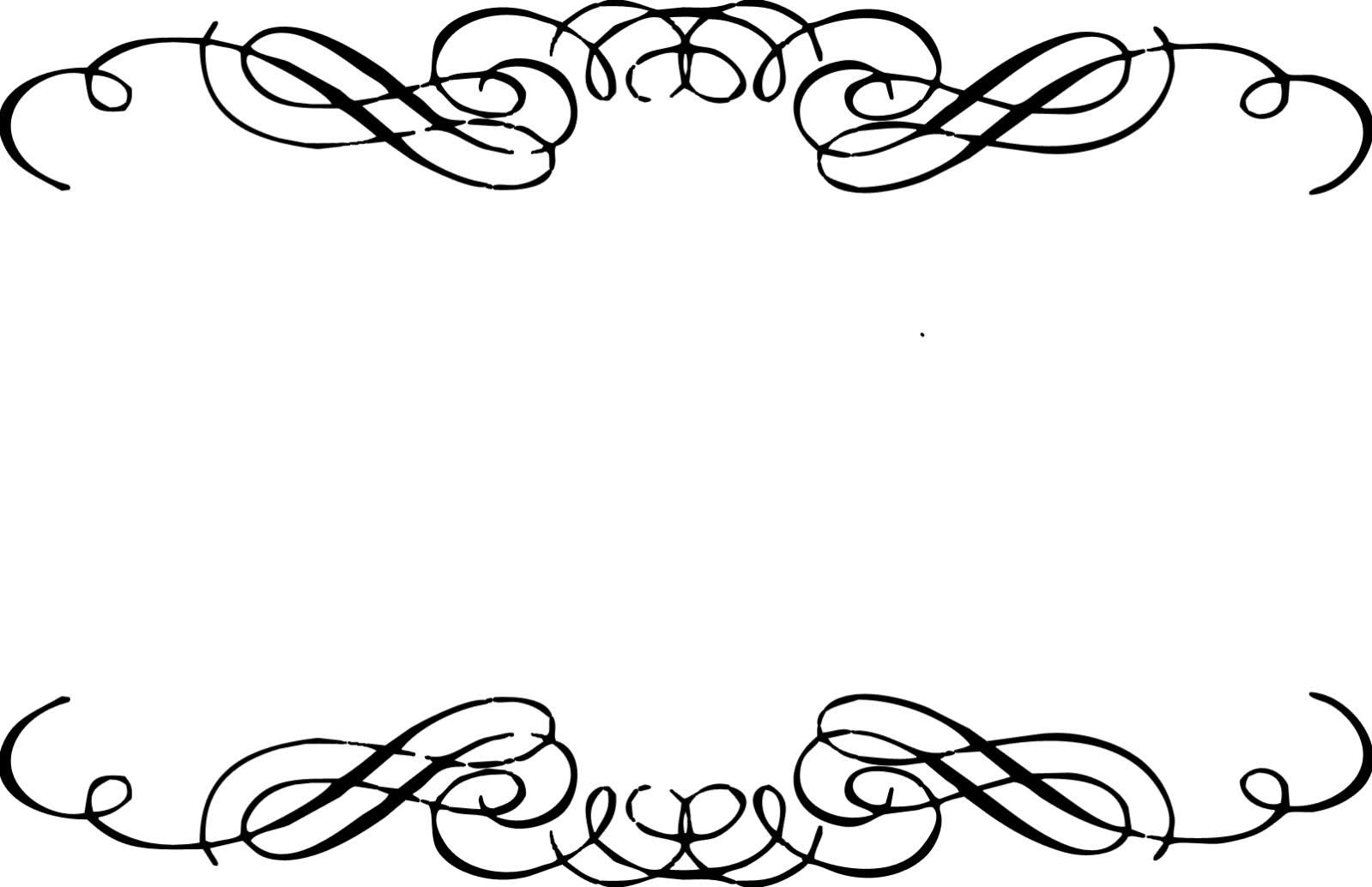 1599x1034 Classy Design Fancy Border Clip Art Corner Scrolls Clipart