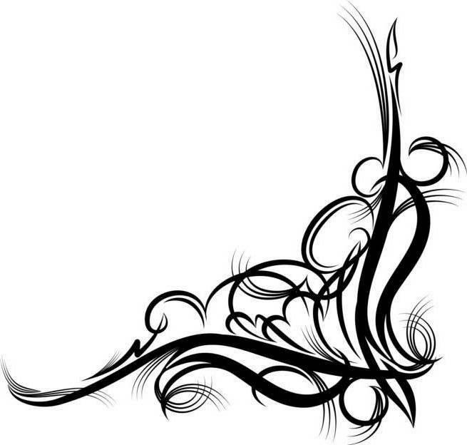 655x624 Corner Scroll Clip Art