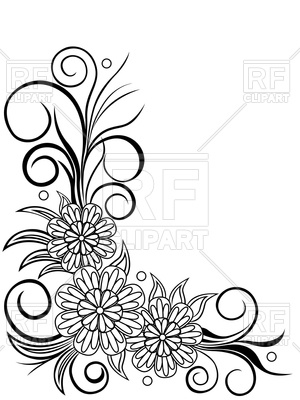 300x400 Sheet With Floral Corner Design Royalty Free Vector Clip Art Image