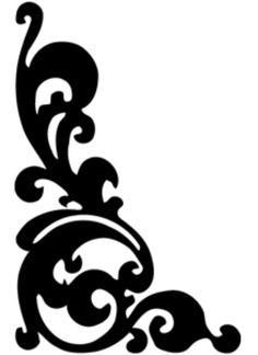 236x324 Clip Art Of Element For Design, Corner Flower, Vector 1525r 143392