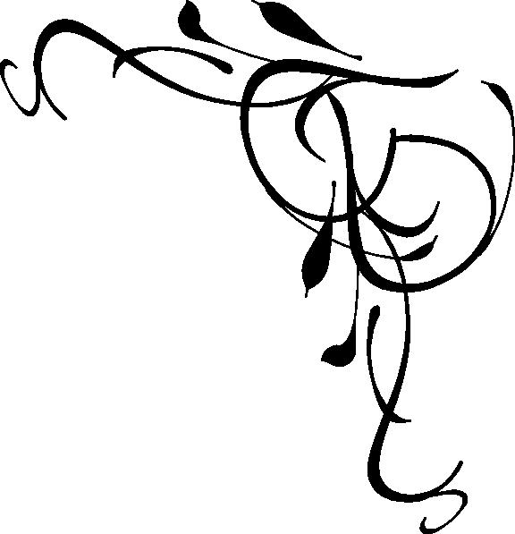 576x597 Elegant Swirl Border Clipart