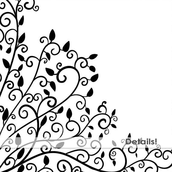 570x570 Elegant Swirl Corner Flourishes Ornate Frame Clip Art Images