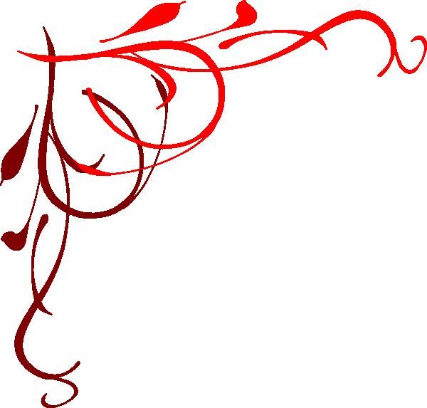 600x573 Heart Flourish Red Clip Art