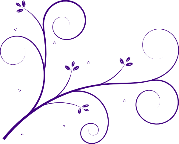 600x481 Flourish Purple Clip Art
