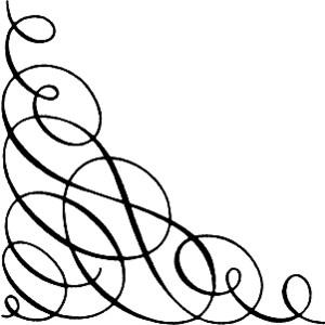 300x300 Corner Scroll Clip Art