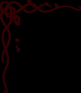 261x298 Large Corner Scroll Burgundy Clip Art
