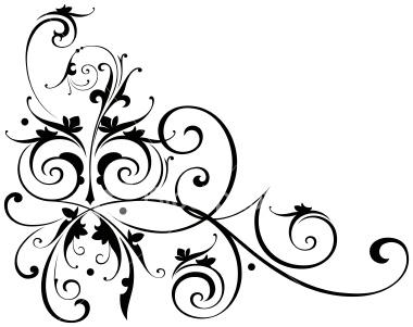 380x301 Scroll Clip Art For Wedding Invitations 101 Clip Art