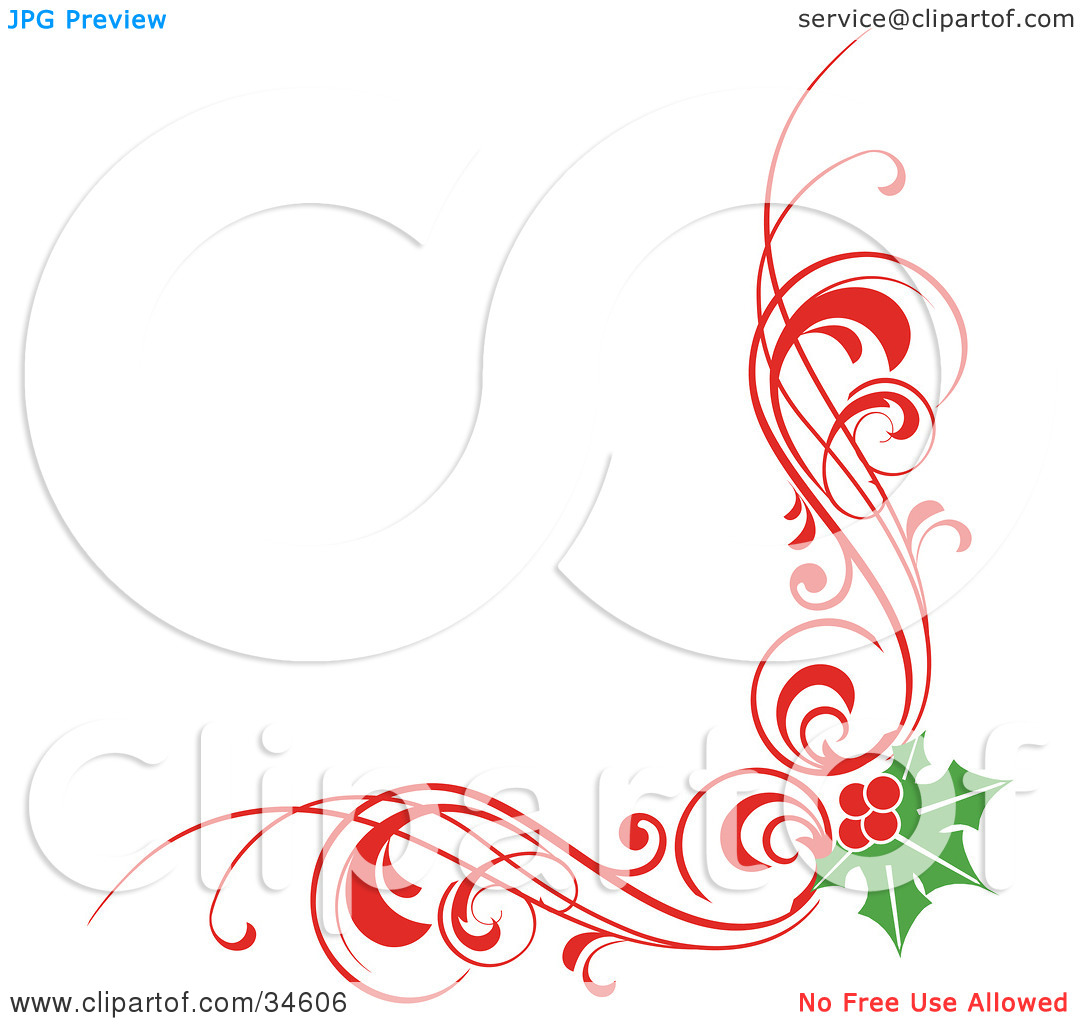 1080x1024 Christmas Corner Clipart