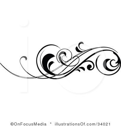 400x420 Scroll Clipart Fancy