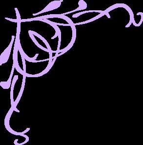 293x297 Wedding Scroll Border Clip Art