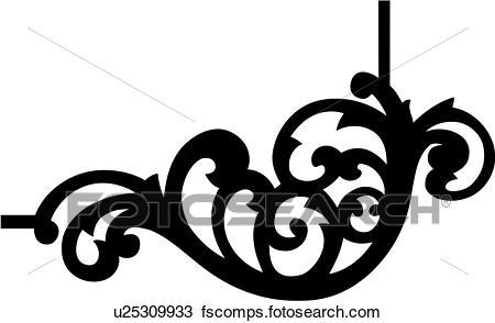 450x294 Clipart Of , Border, Corner, England, Gilding, Ornament, Ornaments