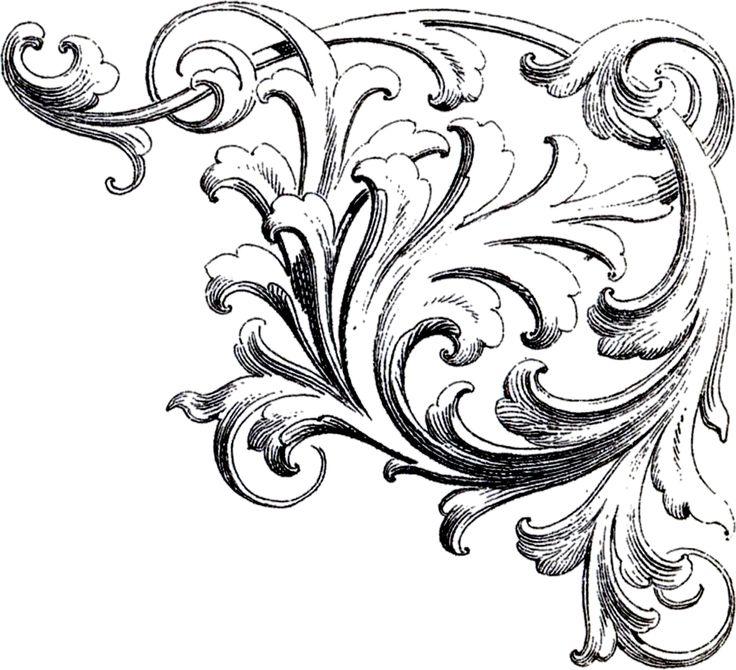 Corner Scroll Designs: Free Download Best Corner Scroll On