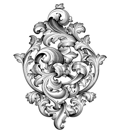 Corner Scroll Designs