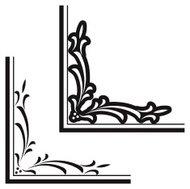 190x189 Renaissance Corners Hand Engraving Scrollwork Premium Clipart