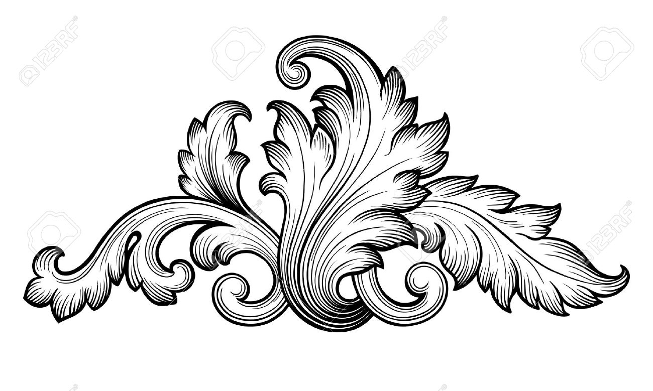 1300x779 Engraving Clipart Scrollwork