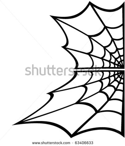 405x470 Drawn Spider Web Background Corner