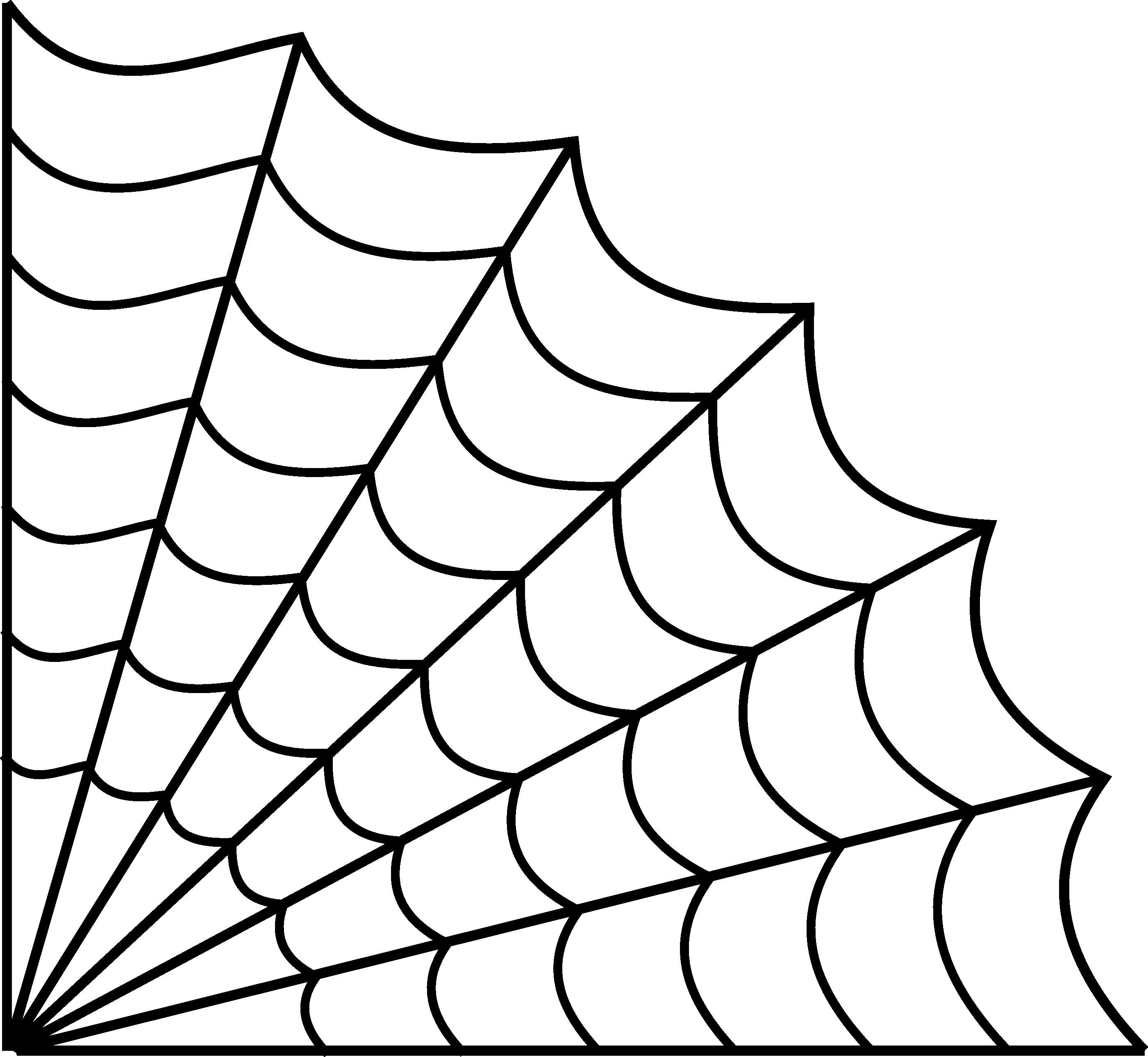 2801x2579 Drawn Spider Web Line Drawing