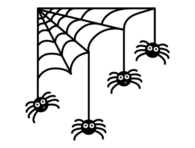 660x500 Halloween Spider Clipart Black And White