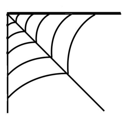 409x403 Corner Cobweb Clipart