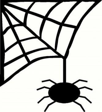 333x365 Spider Web Clipart Clipartpen